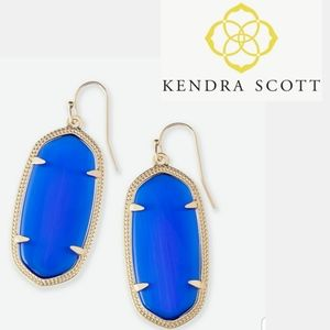 ■Kendra Scott■Elle Cobalt Cat's Eye Glass Earrings